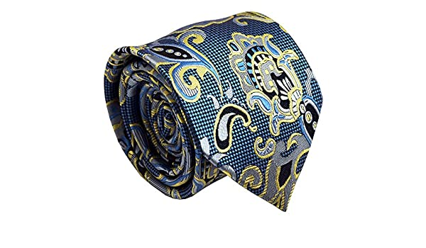 Black with Red Paisley Men Necktie Wedding Office Party Formal Man Tie NT267
