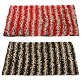 #5: Story@Home Handicraft Style Eco Series 2 Piece Cotton Blend Door Mat Set - 16