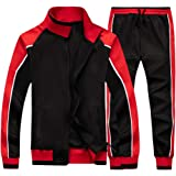 LBL Men Tracksuit Set Full-Zip Sweatshirt Jogger Sweatpants Warm Sports Running Sweat Suit