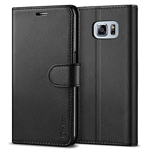 Vakoo [PU-Leder Schutzhülle Kompatibel mit Samsung Galaxy S6 Edge Hülle, Brieftasche Handyhülle für Samsung Galaxy S6 Edge (5,1