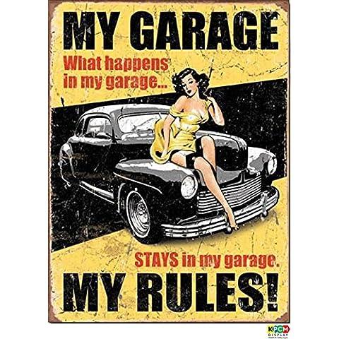 My vintage de garaje diseño de normas en diseño Retro de, de carro de golf, Guinness - Rob McAlister de hombre de 1,2 mm juego de 100 mm x 200 mm plástico rígida de
