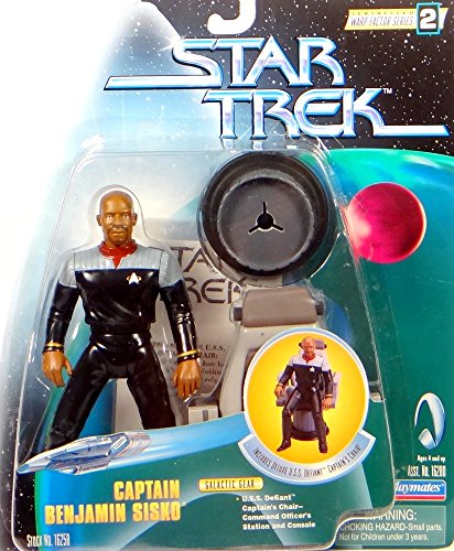 Captain Benjamin Sisko with Defiant Captains Chair - Actionfigur Star Trek Warp Factor Series von Playmates