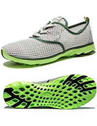 NewDenBer - Zapatillas de running de tela para hombre, color negro, talla 39.5 EU