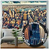Foto mural New-York Skyline horizont - decoración ocaso Manhattan america USA deco Big Apple NYC I foto-mural foto póster deco pared by GREAT ART 210x140 cm