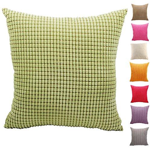 AOZHOME Kissenbezug Kissenbezug Sofa Auto Dekoration - 9 modernen Uni-Farben und 10 Größen