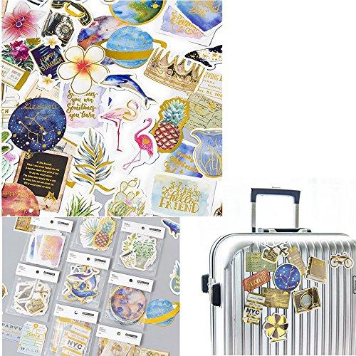 Craft Paper Sticker, Aufkleber, Vinyls, für Tagebuch, Scrapbooking, Geschenk, Laptop, für Kinder, Autos, Motorrad, Fahrrad, Skateboard, Gepäck, Stoßstangen-Aufkleber, 8 Stück