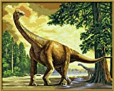 Schipper 609170564 - Malen nach Zahlen Kids Brachiosaurus, 40x50 cm