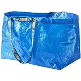 Ikea Lot de 10grands sacs Frakta - Bleu - Charge maximale 25kg
