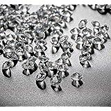 10000 Pezzi 6 mm Acrilico Trasparente Diamante Dispersione Festa di Nozze Matrimonio Cristallo Tavolo Coriandoli