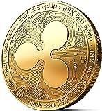 innoGadgets Physische Ripple Medaille mit 24-Karat Echt-Gold überzogen. Wahres Sammlerstück mit Münzkapsel - Kollektion 2018. EIN Muss für jeden Krypto-Fan