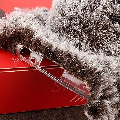 SevenPanda-Samsung-Galaxy-A3-2017-Handmade-Silikon-Weich-Soft-Fell-Plsch-Wolle-Warm-Fluffy-Flauschige-Zotten-Kaninchen-Rabbit-Pelz-Haar-Hair-Handy