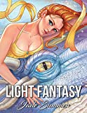 Light Fantasy: An Adult Coloring Book with Princesses, Unicorns, Mermaids, Fairies, Elves, Wizards, and Dragons