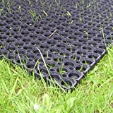 Heavy Duty Rubber Grass Mat 1.5m x 1m Childrens Playground Garden Safety Floor Matting