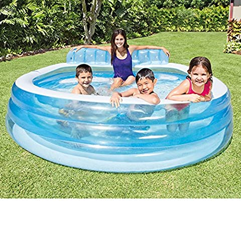Intex Swim Center Inflatable Family Swimming Lounge Pool, 7.3ft for Ages 4+