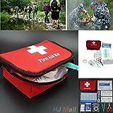 Hanbaili Kit de primeros auxilios familiar de 11 piezas Set bolso de emergencia para emergencias en el hogar, oficina, coche, aire libre, barco, campi