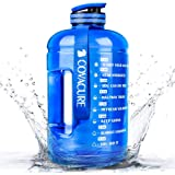 COVACURE Drinkfles Sport - 2,2 l / 3,78 l waterfles, grote sportfles, BPA-vrij, lekvrij, voor fitness, gym, thuis, kantoor, o