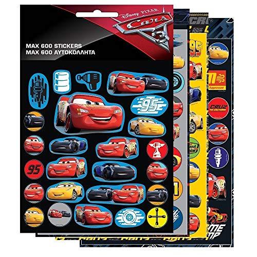 GUIZMAX 600 Stickers Cars Disney Enfant Autocollant