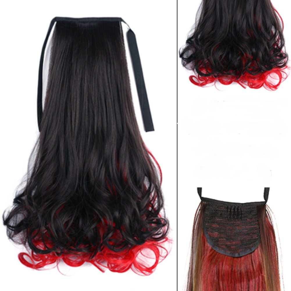 Ragazze colore parrucche coda di cavallo/evidenziare colore cinghie-parrucca/pera cavallo-parrucca/C