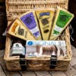 Wicker Hamper Basket with 4 Cheeses