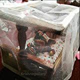 krishnagallery Laddu Gopal Wooden Bed with Mosquito Net(Brown)