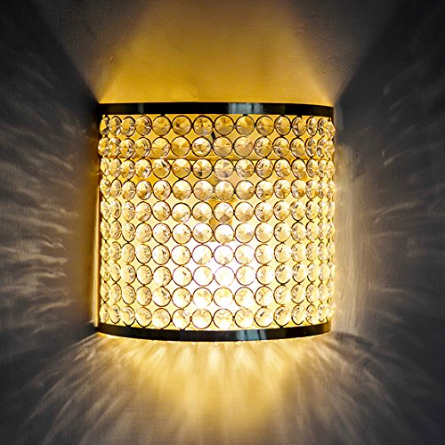 Homesake Crystal French Wall Sconce Lamp, Decorative Door Light,Gold and Crystal, Diwali Gifts