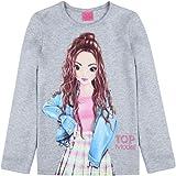 Top Model Niña T-Shirt, Manga Larga, Gris