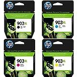 HP 903XL Schwarz/ Cyan/ Magenta/ Gelb Original Druckerpatronen mit hoher Reichweite für HP Officejet, HP Officejet Pro