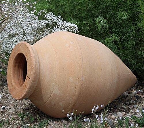 Kreta-Keramik absolut frostfeste handgefertigte Amphore 60 cm, mediterrane Spitzamphore, Deko Garten Teich Terrasse Vitex