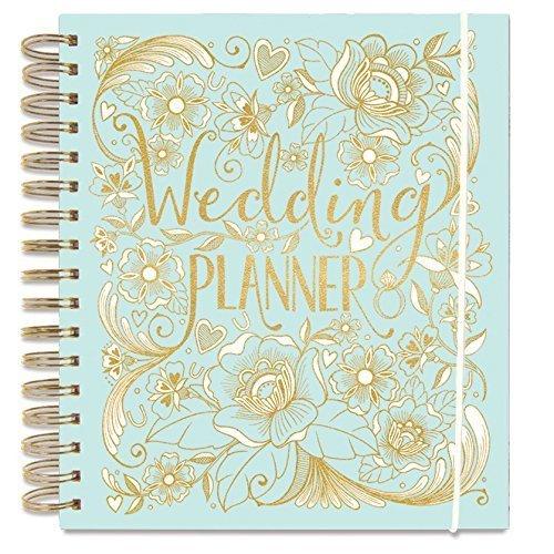 Rachel Ellen, quaderno per Wedding Planner, colore azzurro, con sezioni dedicate ai regali, checklist e tasche per organizzare un matrimonio