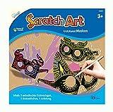 Scratch Art Masken, mit 3 Kratzvorlagen