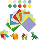 Hanyousheng Origami Papier, Bastel Faltpapier, Buntes Origami, 100 Blatt 17 x 17 cm, 10 Farben Sortiert, für Kinder und Erwac