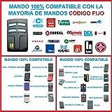 MANDO GARAJE 100% COMPATIBLE CON CODIGOS FIJOS, TRINARIOS Y BINARIOS, MANDO COPIADOR, DUPLICADOR, CLONADOR, COMPATIBLE