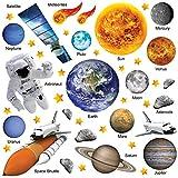 GET STICKING DECOR Educazione Sistema Solare Spazio Decalcomanie/ Sticker Da Muro/ Adesivo Da Parete Collezione, PhotoRealAstro Ssys.3, Vinile Lucido, Multi Color. (Large)
