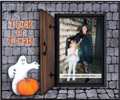 Trick ou traiter Halloween cadeau cadre photo (Un Halloween Ou Une Halloween)