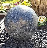 Kugel aus Edelstahl 30 cm Dekokugel Granit anthrazit Dekorationskugel Edelstahlkugel
