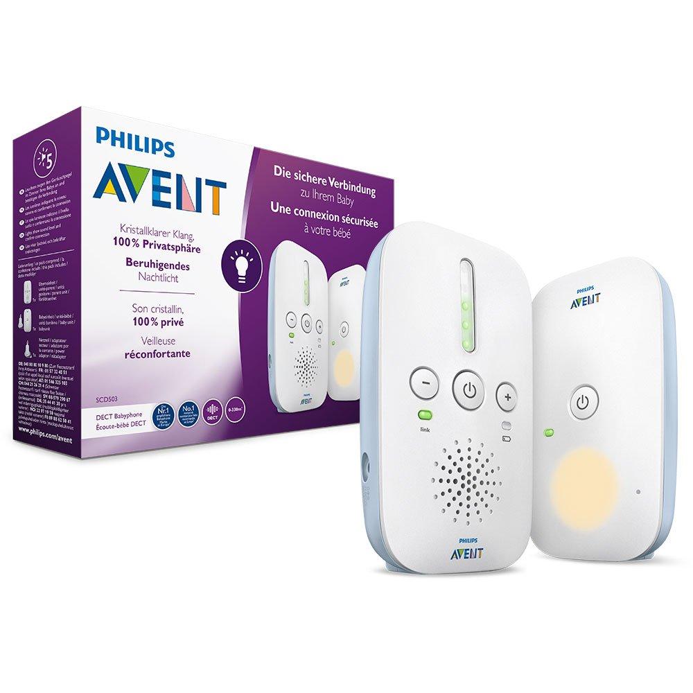 Philips AVENT SCD503/26 Audio-Babyphone, DECT, Eco-Mode, 24 Std. Laufzeit, Nachtlicht