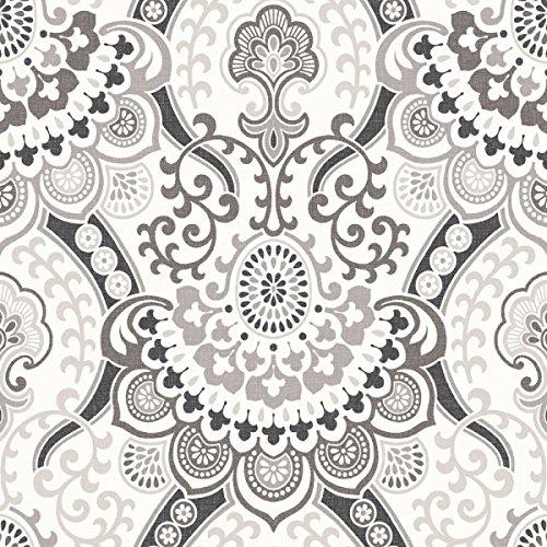 PA16863 - Galerie Paradisio Wallpaper schwarz, grau, weiß, damast, - Moderne Damast-galerie
