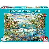 Schmidt Spiele Puzzle 56253 Entdecke die Dinosaurier, Kinderpuzzle, 200-Teile