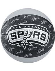 Spalding Team Ball San Antonio Spurs - Pelota de baloncesto ( cuero ) , color negro, talla 7