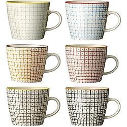 """Tassen """"Carla"""" / handmade / 6-farbig sortiert / 6er Set"""