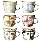 Bloomingville Tassen Carla/handmade / 6-farbig sortiert / 6er Set