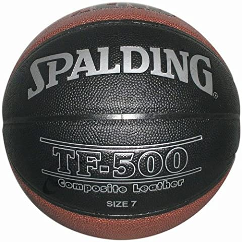 Spalding LNB TF 500 Indoor Ballon de basketball mixte adulte Noir/Orange 7
