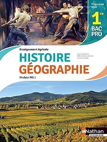 Histoire et Géographie 1re Bac Pro Agricole