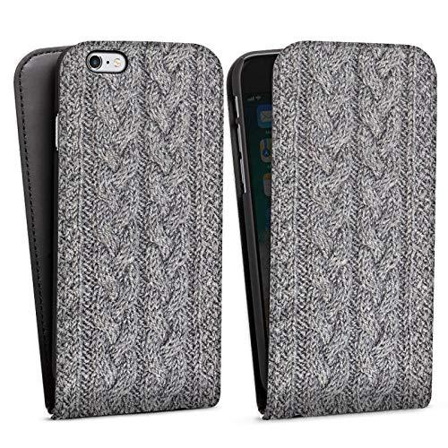DeinDesign Apple iPhone 6 Flip Case Tasche Hülle Wolle Look Stricken Muster