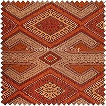 Exclusiva tela marrón naranja rojo color morado y negro azteca geométrico nuevo diseño textura suave tapicería Tejido perfecto para muebles muebles Material