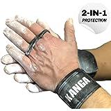 KANGA 2-in-1 Premium Crossfit Grips - Supporto da Polso e Protezione del Palmo combinati - dimostrato di Essere Altamente Eff