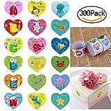 BESTOMZ Heart Stickers Sticker for Kids with Animal Designs