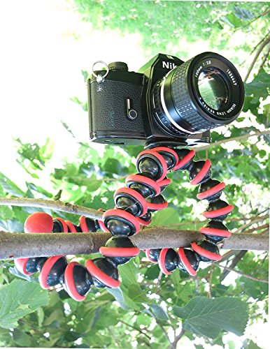 TRYOKART 10 Inch Flexible Gorillapod Tripod With Mobile Attachment For Dslr, Action Cameras, Digital Cameras & Smartphones Tripod(Red) 3