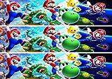 Fondant Tortenband Tortenaufleger Geburtstag Super Mario TB1