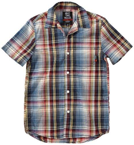 Vans Jt Gunnell - Camicia da uomo a maniche corte, Multicolore (multicolore), L